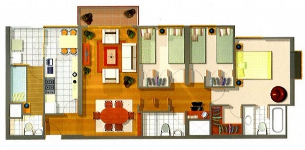 Lima Apartment rental floorplan
