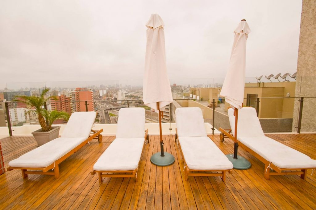 Roof Decking View Miraflores Apartment Rental