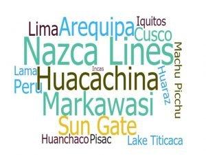 Peru Word Cloud - Peru-rental.com